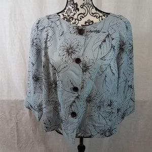 Doncaster Signature Blue Floral Cardigan